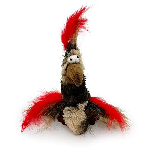 Pet Craft Supply Co. Funky Pheasant Crazy Catnip Cuddler Funny Cuddling Chasing Hunting Irresistible Stimulating Soft Plush Boredom Relief Interactive Cat Toy with Realistic Feathers