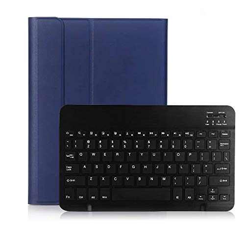 Docooler 10.2 inch Wireless Keyboard Case Tablets Protective Case Detachable Keyboard Case Compatible with iPad (2019)