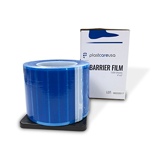 Blue Barrier Film 4 Inches x 6 Inches, 1 Box of 1200 Sheets