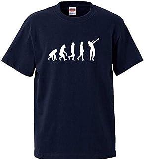 Lindwurm Tシャツ メンズ 半袖 おしゃれ 人類の進化 サルからヒトへ シルエット おもしろ クルーネック Uネック ユニセックス 男女兼用 プリントTシャツ