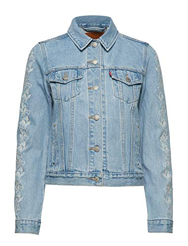 Levi's Original Giacca in Jeans, Needlecraft Trucker, S Donna