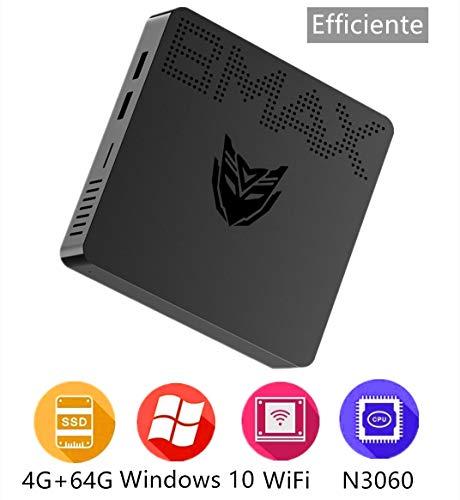 BMAX B1 Mini Pc Windows 10 Pro computadora 4 Go DDR / 64 eMMC SSD Processeur Intel Celeron N3060 Desktop HDMI et VGA-Anschluss Dual Band WiFi 2.4 + 5.8 G 4K HD / 1000 Mbps LAN / BT4.2 / 64-Bit