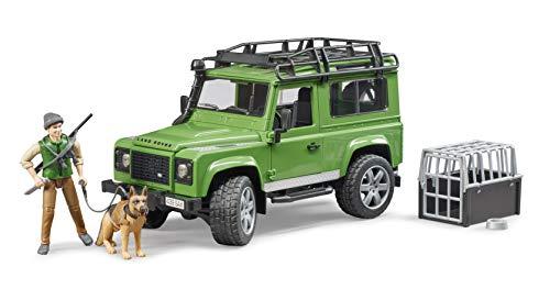 Bruder Forstwirtschaft Land Rover Defender Station Wagon, mit Förster und Hund, Modellfahrzeug, Modell Fahrzeug, Spielzeug, 02587