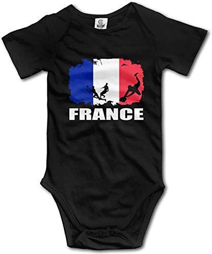 WlQshop Body Bébé Garçon Fille, France Flag Football Rugby Player Newborn Baby Girl Clothes Short Sleeve Infant Bodysuit