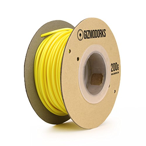 Gizmo Dorks Hips Filament for 3D Printers 1.75mm 200g, Yellow