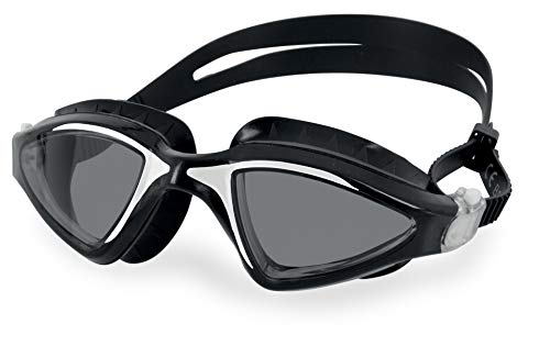 SEAC Lynx, Swimming Goggles for Women and Men, Perfect for Swimming Pool and Open Water, Black/White lf, Standard