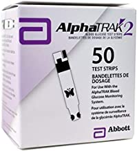 AlphaTRAK 2 Pet Blood Glucose test strips Dogs Cats diabetes 50ct