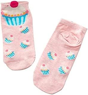 Socks 10 Pairs Cartoon Socks Lovely Sweet Cupcake Socks for Girls, Size:One Size(Blue) Outdoor & Sports