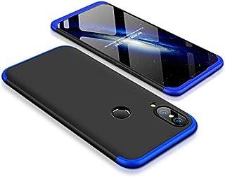 Huawei Nova 3e Case, Fashion ultra Slim Gkk 360 3in1 Full Protection Cover Case - Black Blue