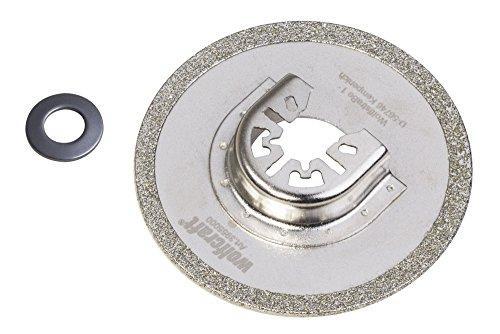 Wolfcraft 3955000 Lame de scie Diamant ø 80 mm, Vert