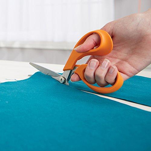 Fiskars 199500-1001RazorEdge Fabric Shears/Seam Ripper for Tabletop Cutting , 8 Inch