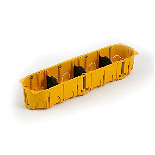 Legrand 080054 viervoudige inbouwdoos/BATIBOX wanddoos, 4-F T = 50MM, oranje