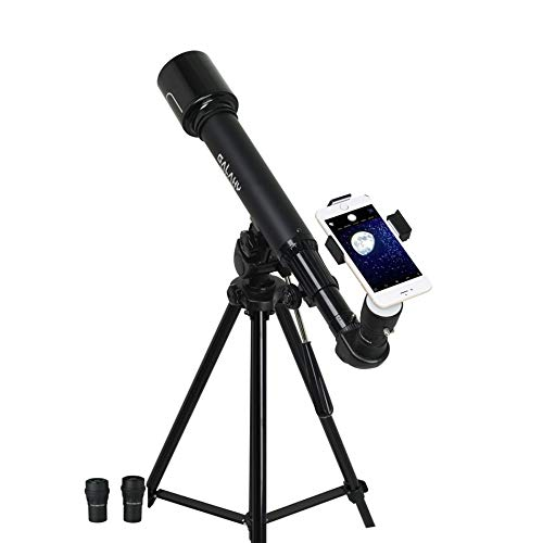 IDS Home Eastcolight Professional Galaxy Tracker Hd Telescope 375 Power 50Mm Wide Angle Childrens Educational Science Toys with Aluminum Tripod Black for Beginners