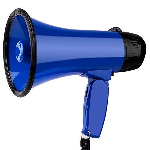 Altavoz portátil del megáfono del megáfono Altavoz y la Sirena de Voz/Alarma Modos megáfono Grabar Reproducir YCLIN (Color : Blue)