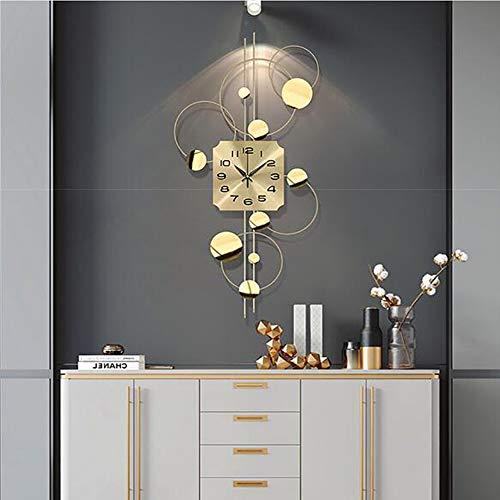 TTIK Reloj Moderno Mecanismo Silencioso 3D Reloj de Pared de Hierro Creativo para Sala de Estar Dormitorio Decoración de Arte de Pared para El Hogar 90x45cm