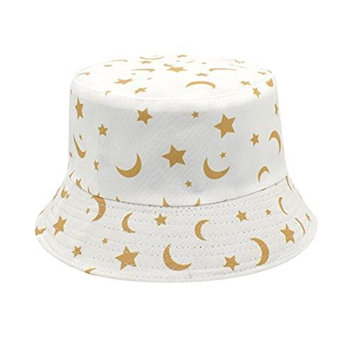 FMY Verano Cubo Sombreros Adultos Moda Impresión Sombrilla Sombrero Pescador Sombrero Cuenca Sombrero Al Aire Libre Cubo Sombrero Niñas Cuenca Sombrero Al Aire Libre