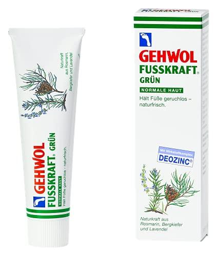 GEHWOL Fusskraft® Grün für normale Haut erfrischende Fuß Creme gegen Fußgeruch 125ml Tube.