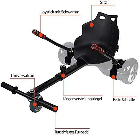 YOLEO Siège pour hoverboard, kart, siège pour scooter électrique enfants et adultes 58 × 44 cm (accessoire Hoverboard)