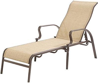 Amazon Com Aecojoy Adjustable Outdoor Chaise Lounge