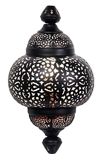 Oosterse lamp wandlamp serap zwart 44 cm E27 | Marokkaanse metaal vintage wandlamp lamp lamp | Orient lampen binnen als wanddecoratie in de woonkamer hal buiten op balkon of terras