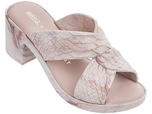 Melissa Luxury Shoes Womens Baja East + Python Heel Light Pink