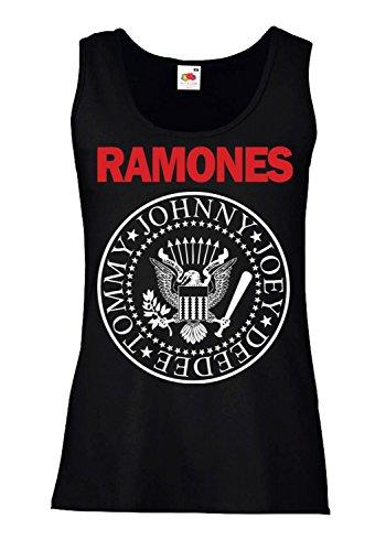 LaMAGLIERIA Camiseta de Tirantes Mujer Ramones - Bicolore - 100% algodòn