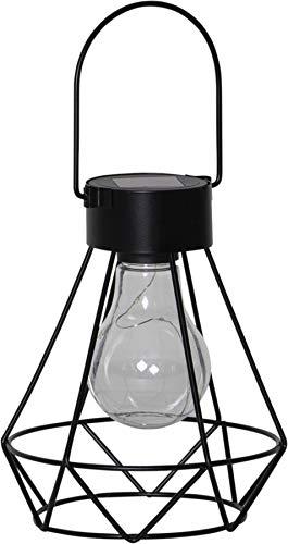 BestSeason LED Solar Lampe Solar Laterne Eddy 13x15,5cm 481-49 Outdoor für Garten Terrasse Balkon Hängeleuchte modern
