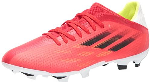 adidas Unisex X Speedflow.3 Firm Ground Soccer Shoe, Red/Black/Solar Red, 10 US Men