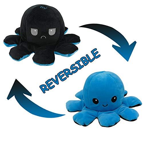 Juguete de Peluche de Pulpo Reversible, Lindos Mini Peluches Muestran tu Estado de ánimo con emoción para los niños