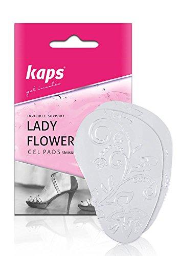 Kaps Lady Flowers | Vorfuß-Polster aus Gel | Metatarsal Pad | Selbstklebende Rutschfeste Schuheinlage | Ideal für High-Heels, Pumps und Damen-Schuhe, 1 Paar