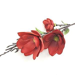 ZKS-KS Artificial Flower Home Decor Artificial Flower Magnolia Flower Decorative Flower Silk Flower Fake Flower (5Pcs)