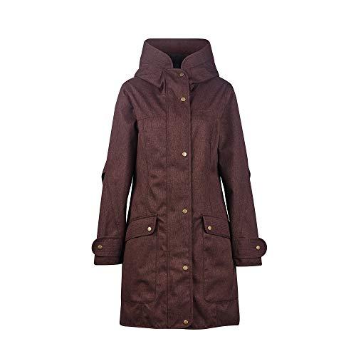 Finside W Onnea Soft Rot, Damen Regenjacke, Größe 42 - Farbe Fudge
