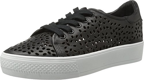 Alice + Olivia Pemton Leather Sneakers, Black (38 = 8)