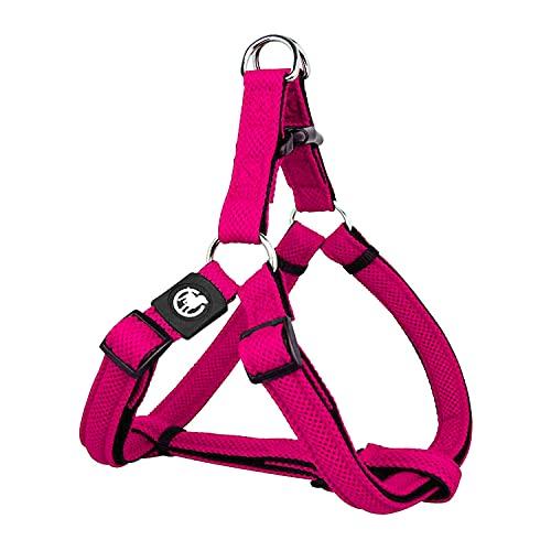 DDOXX Arnés Perro Step-In Air Mesh, Ajustable, Acolchado | Muchos Colores & Tamaños | para Perros Pequeño, Mediano y Grande | Accesorios Gato Cachorro | Rosado Pink, M