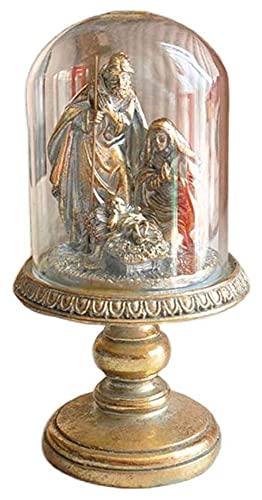 WQQLQX Estatuilla Resina Pintada CRISTED Decoración Estatua Jesús Escultura Natividad Figura Familia Decoración Figuras Regalos Religiosos Artesanía Colección Regalos Estatua