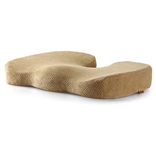 100% Memory Foam Seat Cushion,Nicht-Slip Orthopädische Verdickt Premium Komfort-sitzkissen Für Office Chair Car Seat Zurück & Ischias Schmerzen Linderung-leicht Tan 44x34x9.5cm(17x13x4)