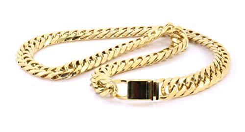 Bling Bling NY - Set da uomo con catena e bracciale a maglie strette, con finitura in oro giallo e Acciaio inox e oro, cod. NA