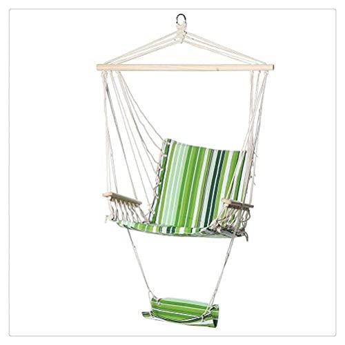 ZLJ Cuerda Colgante Silla de Columpio de Madera Árbol de jardín Asiento de Hamaca Cuerda Colgante de algodón Silla de Hamaca de Cielo Cojín de Asiento de Columpio Jardín al Aire Libre