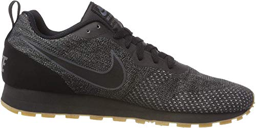 Nike Herren Sneaker MD Runner 2 Eng Sneakers, Schwarz Black Black Dark Grey 010, 39 EU