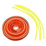 Bob Temple322000 Hierba Accesorios Trimmer 2 Estilo Universal 4 Cadena de líneas jardín Cortadora de cesped Cabeza Velocidad Juego de Repuesto - Negro y Gris (Color : Red)