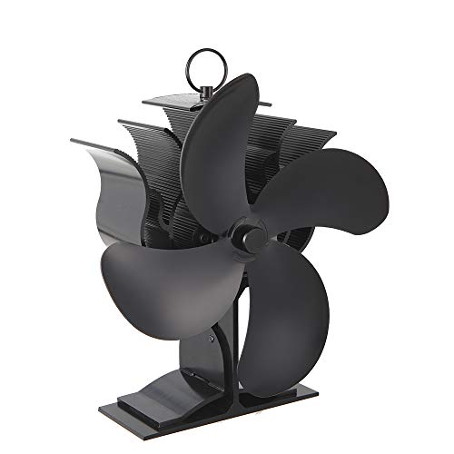 Onever 0-500°C / 32?932°F暖炉の火力ファンコンパクトな磁気に敏感な家庭用ミニ電気金属ファンヒーターストーブ暖炉のファン温度計ストーブバーベキューファンストーブ (暖炉火力ファン煙突×1)