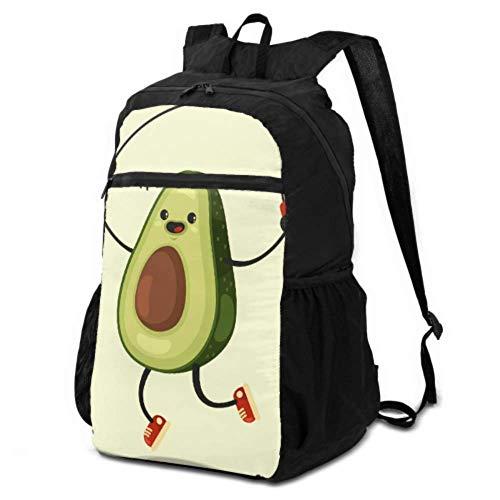 Bolsa de senderismo para mujer linda de dibujos animados de aguacate vegetal mochila de senderismo para mujer mochila de viaje ligero impermeable para hombres y Womentravel camping al aire libre