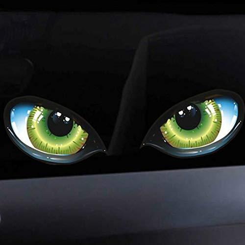 Formulauff Pegatina de diseño 3D estereotipo de Ojo de Gato para Coche, Autoadhesivo Lateral, Ojo de Guardabarros, Autoadhesivo para Espejo retrovisor Autoadhesivo Multicolor Mezclado