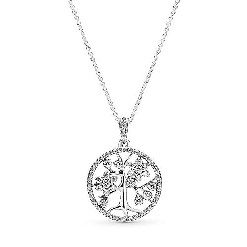 Pandora Women Silver Pendant Necklace - 390384CZ-80