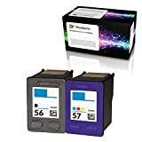 OCProducts Refilled Ink Cartridge Replacement 2 Pack for HP 56 HP 57 for PSC 1315 PSC 2410 PSC 1110 PSC 2175 Officejet 6110 Deskjet 450 PhotoSmart 7150 7260 Printers (1 Black 1 Color)