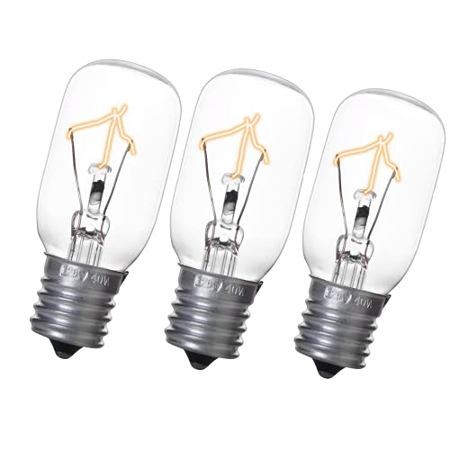 Light Bulb for GE Microwave Oven - Microwave Light Bulb Lamp Fits for GE Whirlpool Maytag Frigidaire Kenmore Over the Stove Microwave, Range Hood Light Bulb for GE microwave, Replaces WB36X10003 3Pack