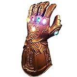 XIAO MO GU Thanos guantes, guantes LED Thanos Infinity Gauntlet Thanos Cosplay látex accesorios de fiesta para niños