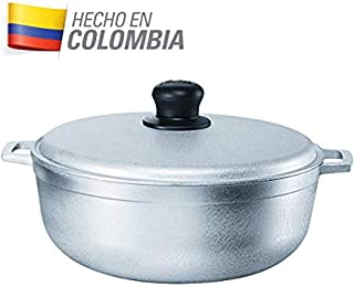 IMUSA USA GAU-80508 17.9Qt JUMBO Traditional Colombian Caldero (Dutch Oven) for Cooking and Serving, Silver, 17.9 Quart