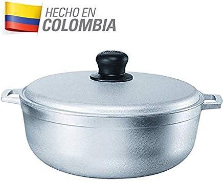 IMUSA, GAU-80508,Large Cast Aluminum Caldero Dutch Oven 17.5 inches / 44cm, 17.9Qt, #20 Grey - GAU-80508