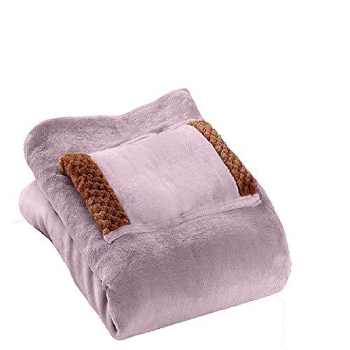 GoMDSA Manta eléctrica con calefacción, manta de franela suave y cómoda, calentamiento rápido y lavable, manta eléctrica para uso en casa, oficina, hombro a mano, manta eléctrica cálida